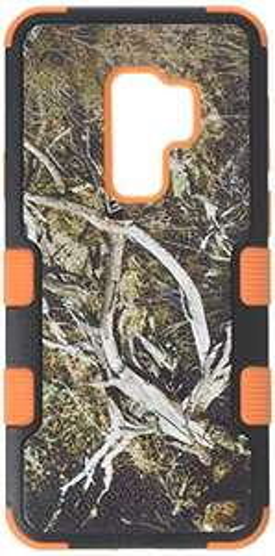 Amazon: MyBat - Carcasa para Samsung Galaxy S9 Plus, Natural Yellow/Black Vine/Orange