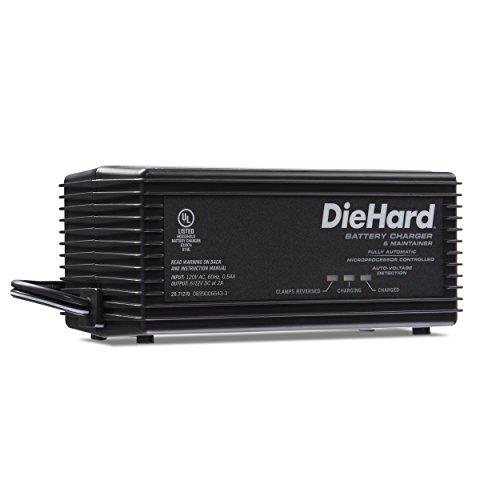 Amazon: DieHard 71219 - Cargador de batería Inteligente y mantenedor de 6 a 12 voltios y 2 amperios