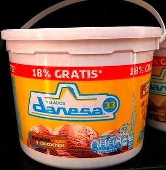 Chedraui en línea Nuevo Laredo: Tina de nieve Danessa (solo la de chocolate, nuez y chocochips) a $10