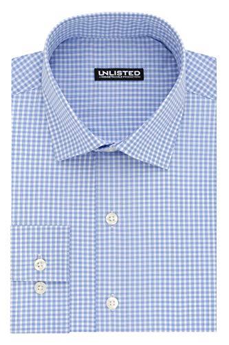 Amazon: Kenneth Cole Slim Fit Check Camisa de Vestir para Hombre