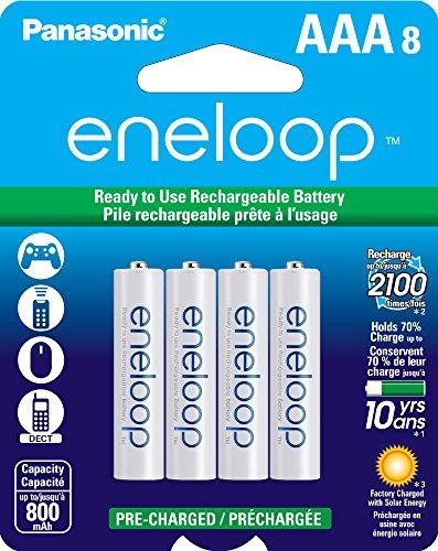 Amazon: Paquete de 8 pilas recargables AAA Eneloop Panasonic
