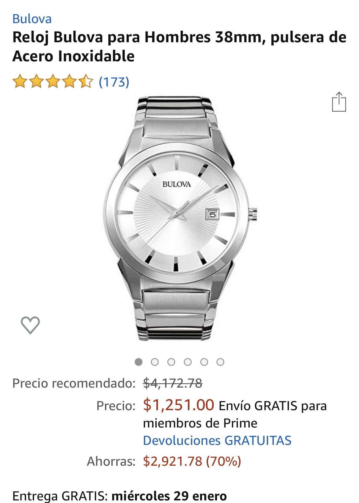 Amazon: Reloj Bulova Hombre