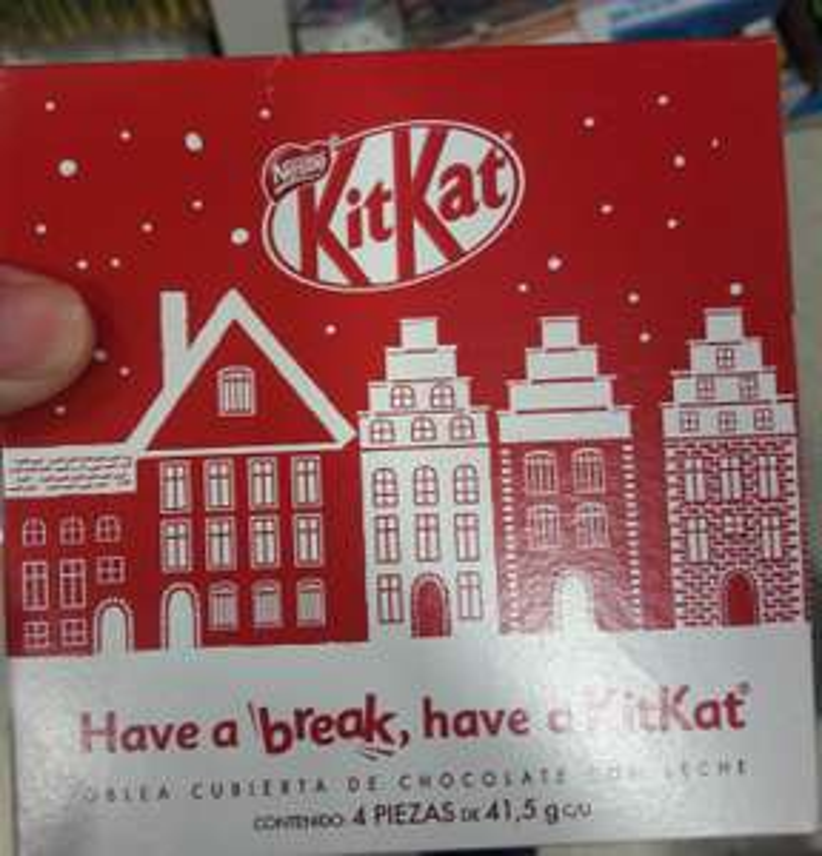Soriana: Chocolate Kit Kat 4 piezas de 41.5g