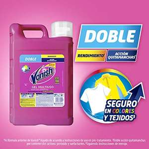 Amazon: Vanish Quitamanchas Líquido, color Rosa, 9 l