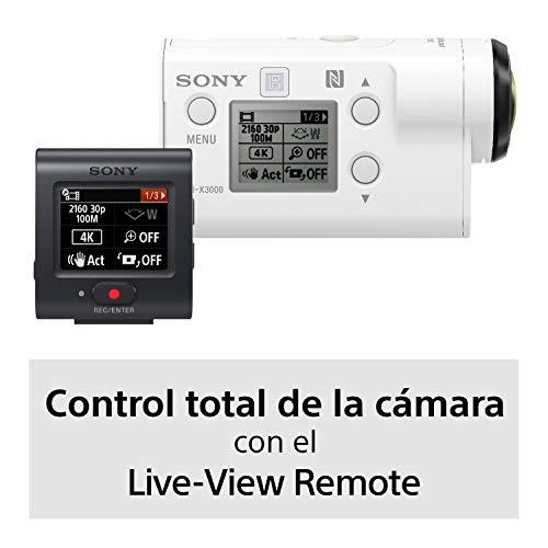 Amazon: Sony Actioncam X3000R 4K con estabilizador de imagen integrado + control Live-View