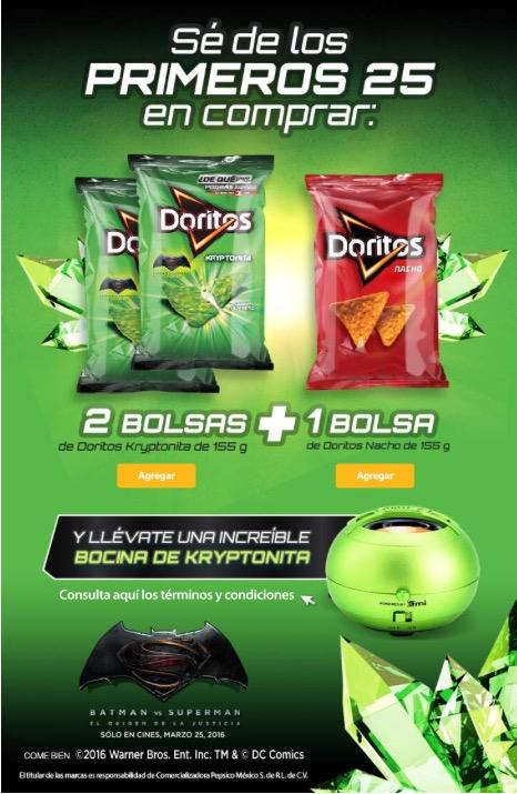 Walmart: los primeros 25 que compren Doritos en un solo pedido regalan bocina