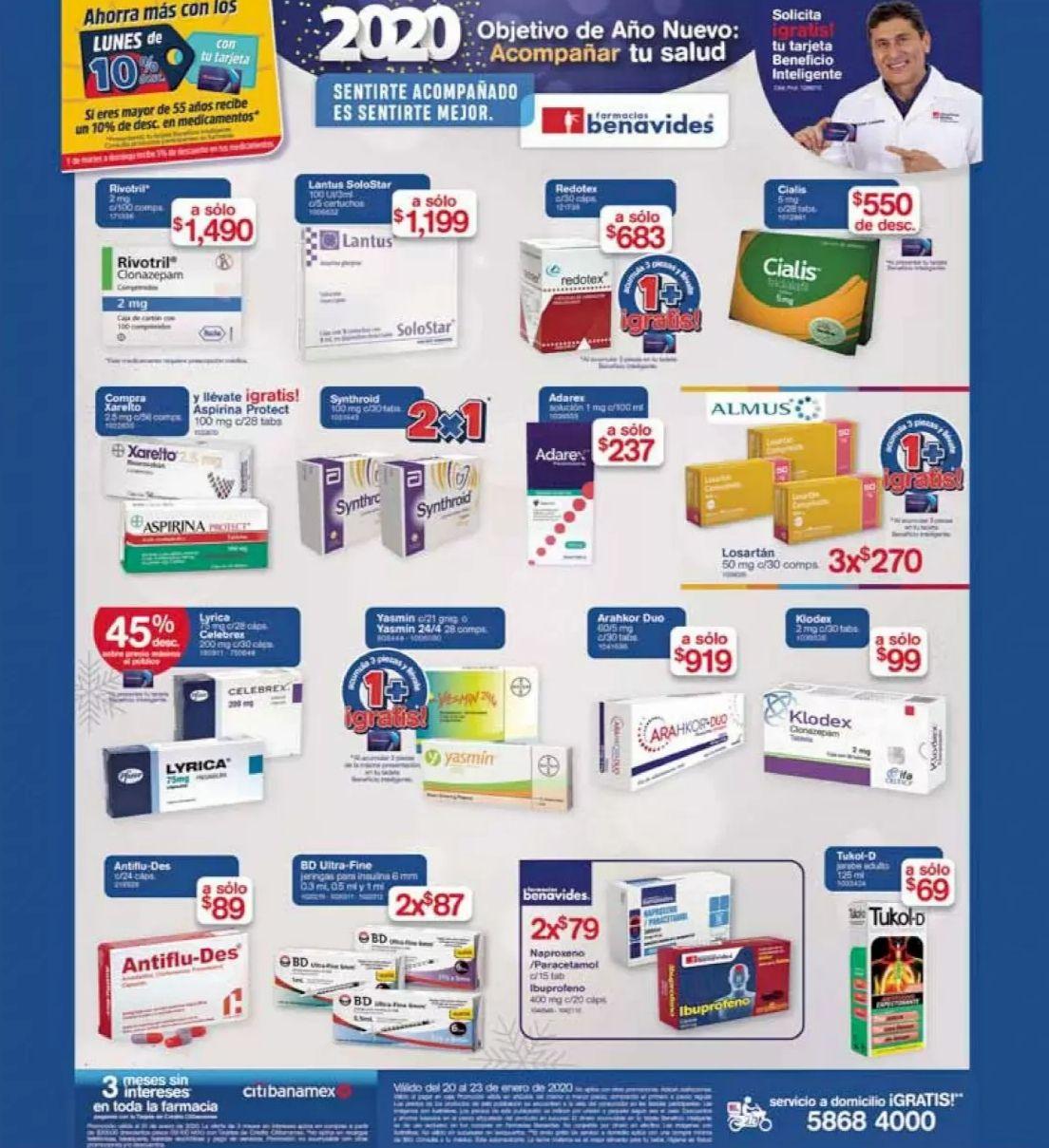 Farmacias Benavides: Ofertas vigentes al Jueves 23 de Enero