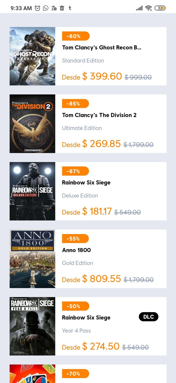 Ubisoft Store: hasta 80% de descuento en juegos