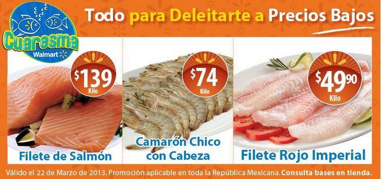 Ofertas de carnes y mariscos en Walmart y Chedraui marzo 22