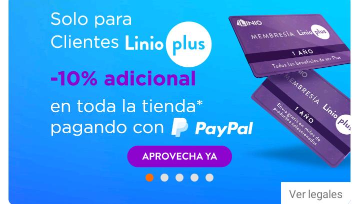 10% en toda la tienda pagando con Paypal (Linio Plus)