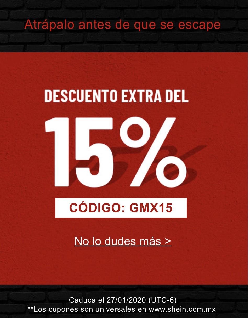 SHEIN: 15% de descuento adicional