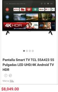 "Linio TCL 55"" 4K Android TV 55A423"