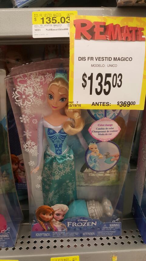 Bodega Aurrerá: rebajas en muñecas de Frozen