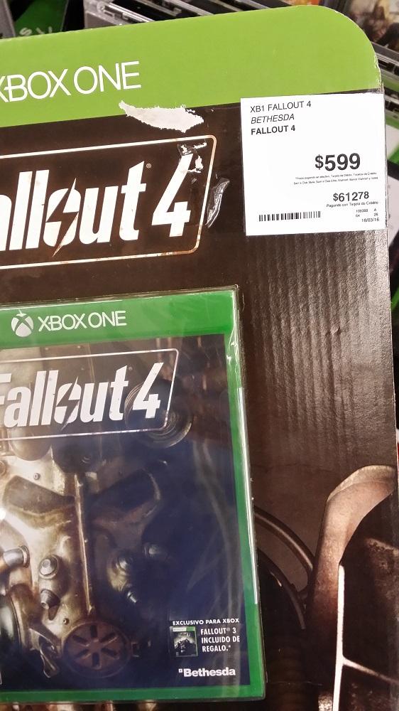 Sam's Club Tampico: Fallout 4 para Xbox One a $599