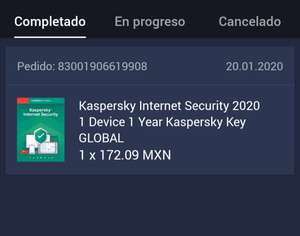 G2A Kaspersky licencia global 1 device 1 year