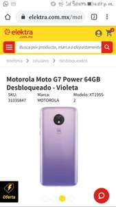 Elektra: Moto g7 power 64 gb