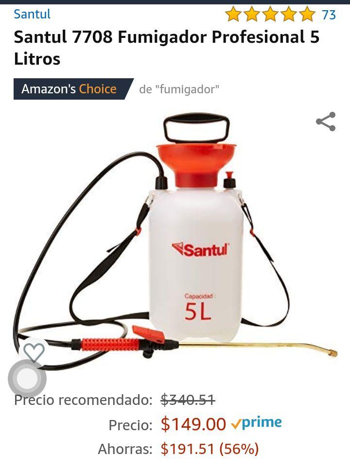 Amazon: Fumigador profesional 5 litros