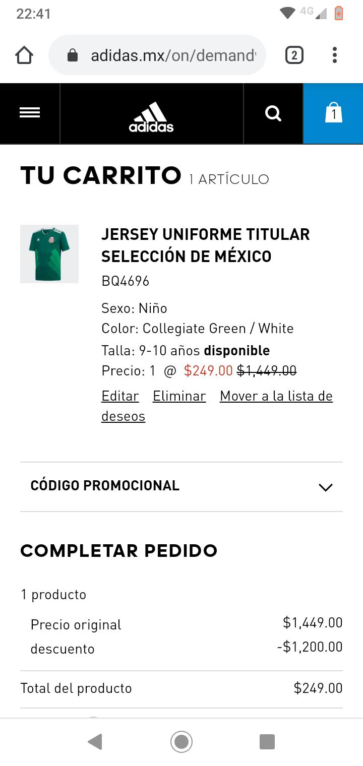 Adidas: Jersey selección mexicana