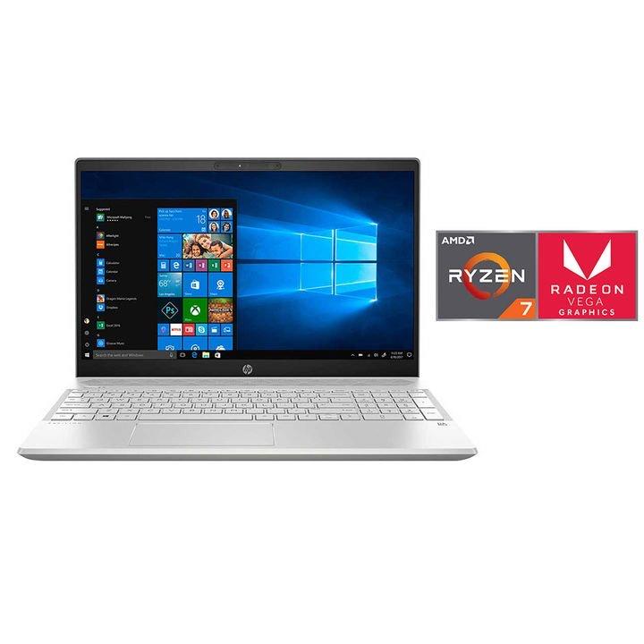 "Office Max: Laptop HP 15-cw1005la 15"" 16GB 1TBHDD+128GBSSD Ryzen7-3700U + audífonos de regalo"