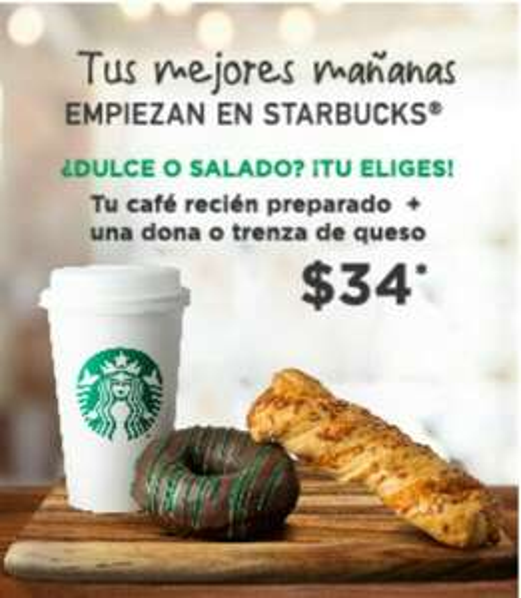 Starbucks combo dona a 34