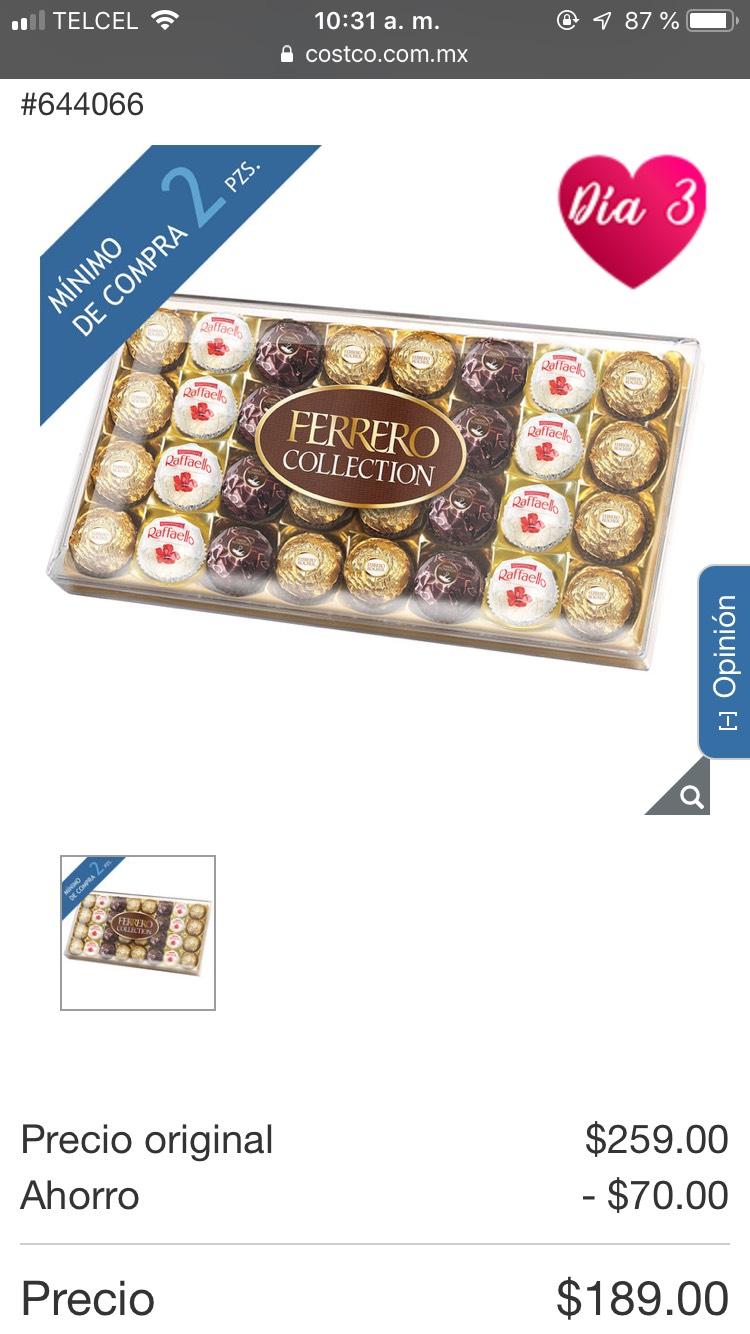 Costco Chocolates Surtidos Ferrero Rocher Collection 32 piezas