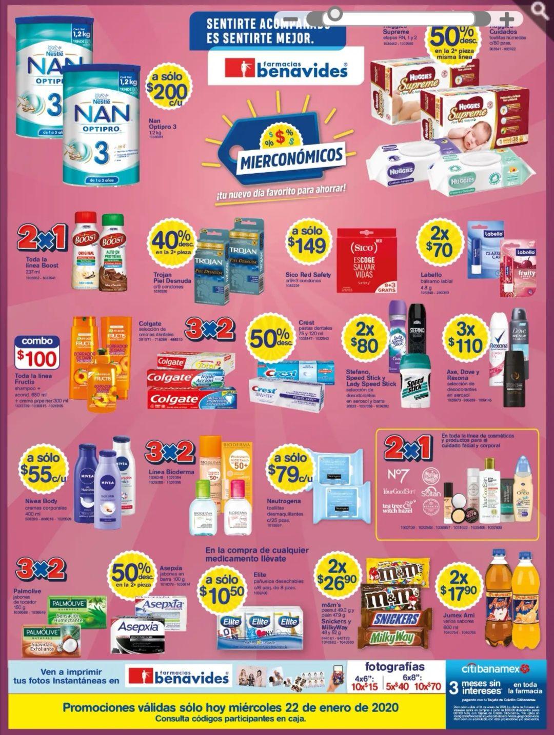 Farmacias Benavides: Mierconómicos 22 de Enero