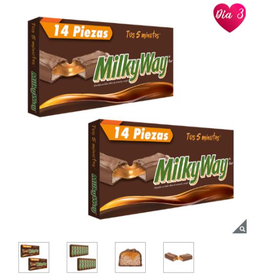 Costco: Chocolates Milky Way, 28 piezas en total