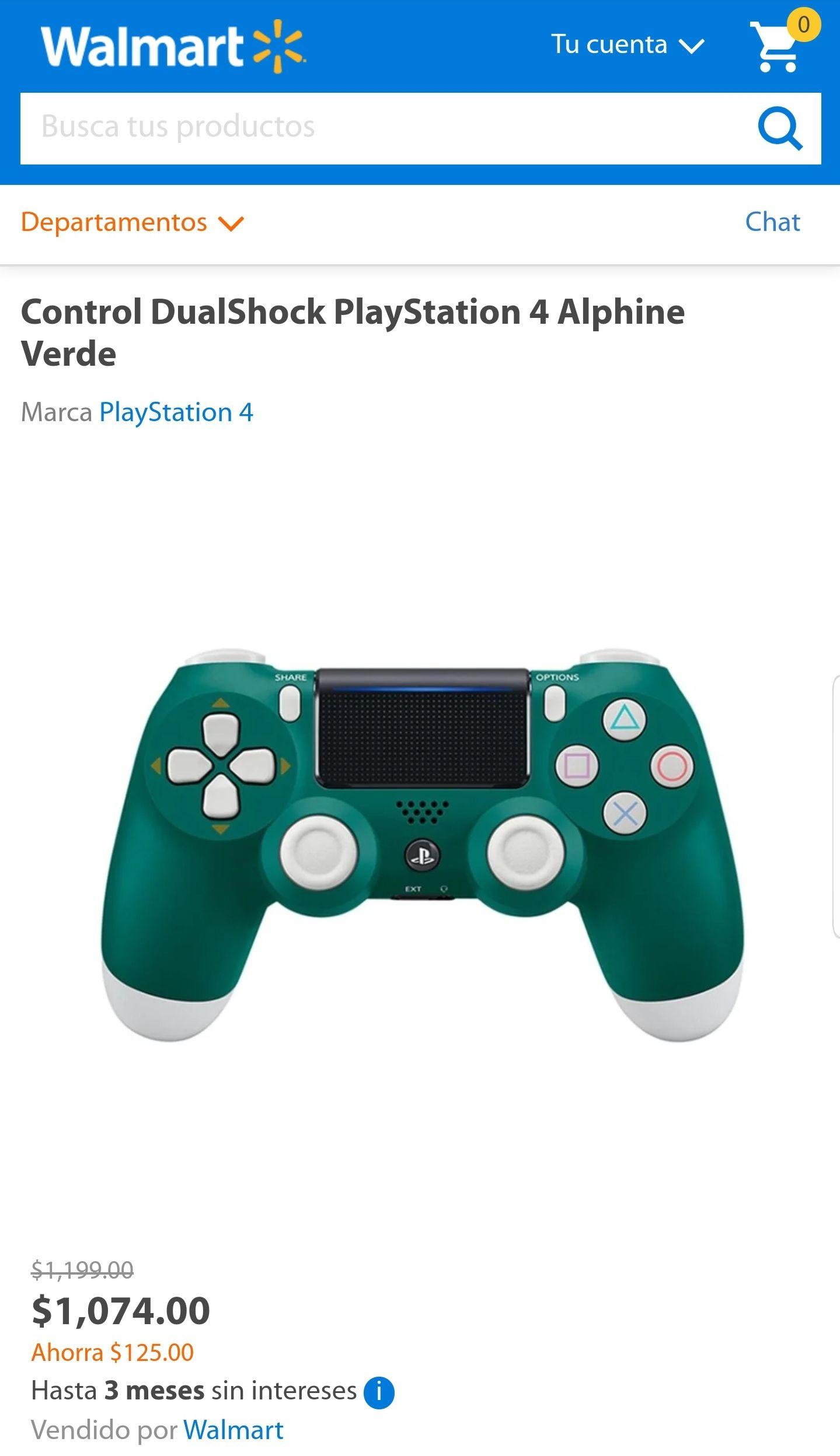 Control PS4 Alphine Verde Walmart online