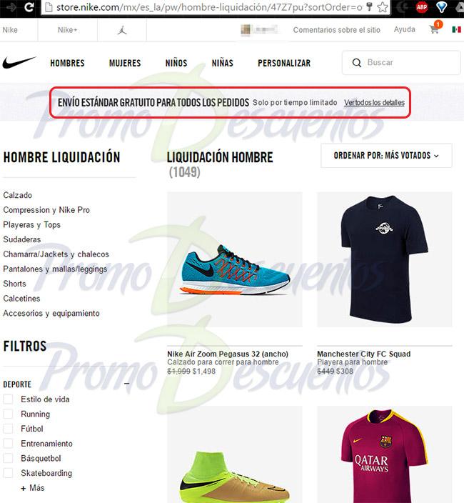 Nike tienda en línea México: envío gratis nacionales en toda la tienda hasta el 4 de abril. Para los que NO encuentran lo que necesitan en las tiendas físicas.
