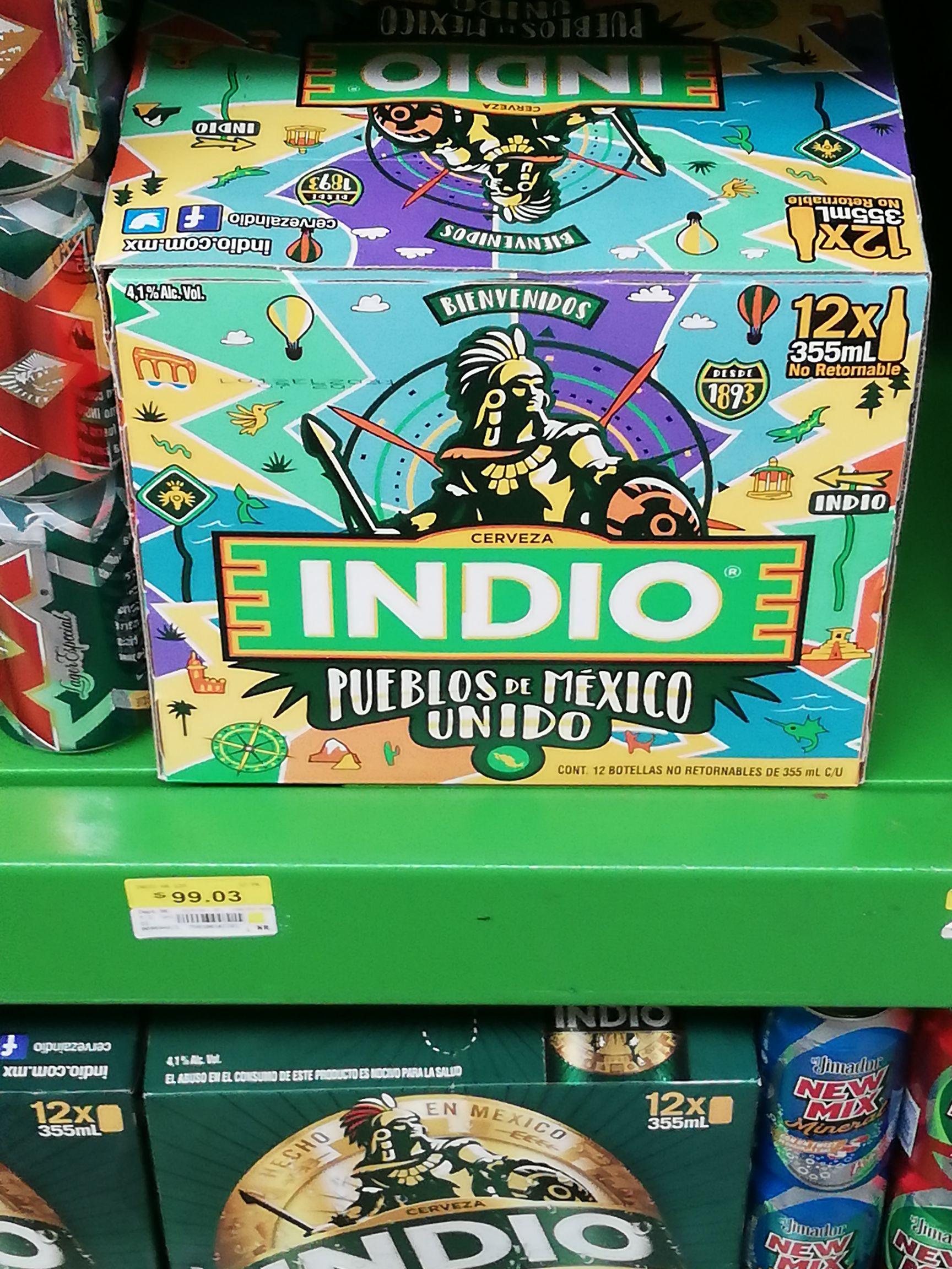 Bodega Aurrerá: 12pack cerveza indio