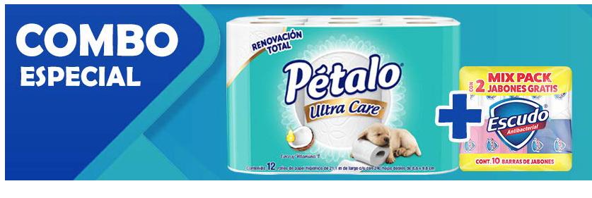 Amazon: Combo Petalo 12 rollos + 10 jabones Escudo por $165