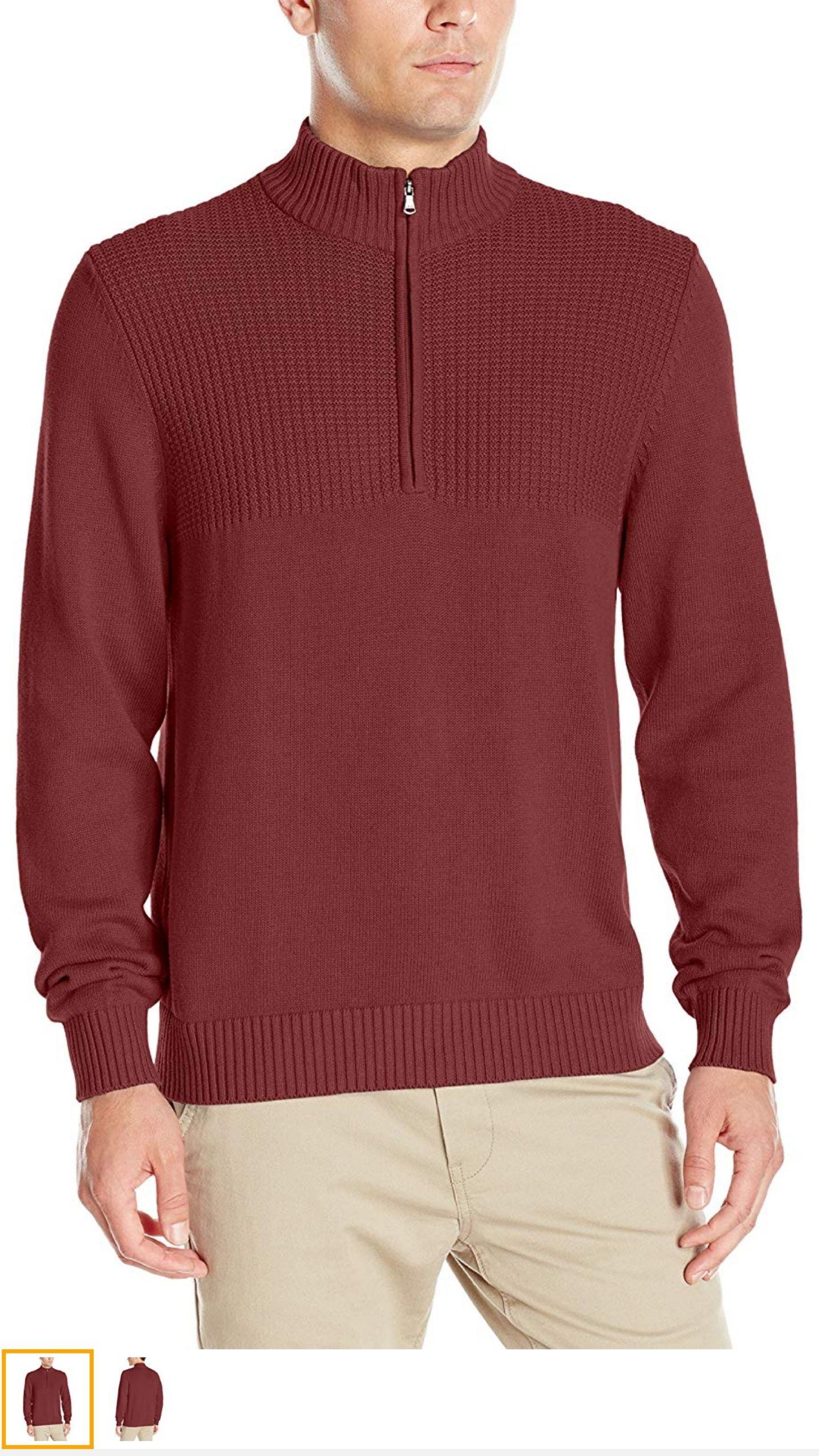 Amazon: Suéter cuello de tortuga colo rojo marca Izod talla 2X