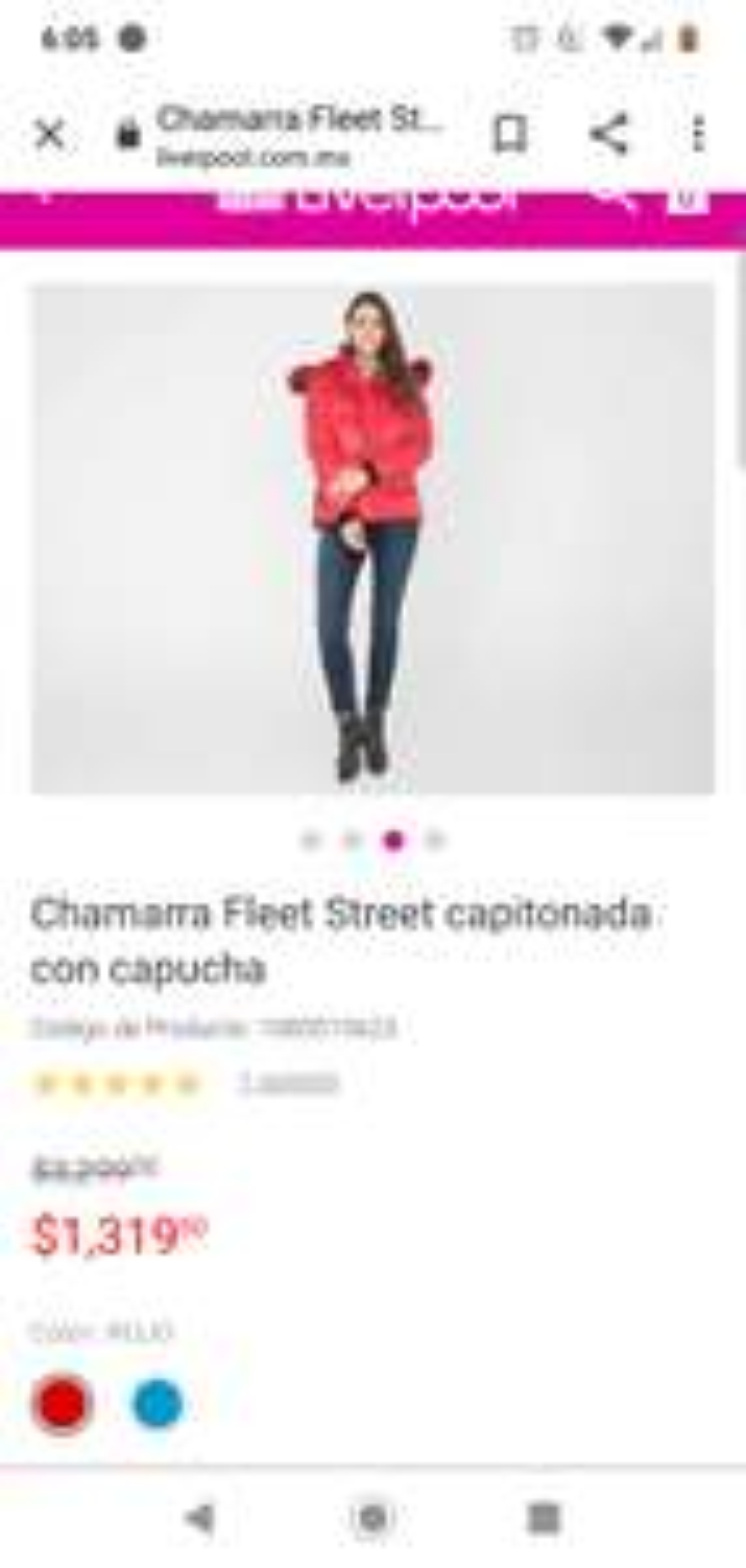 Liverpool: Chamarra Fleet Street capitonada con capucha