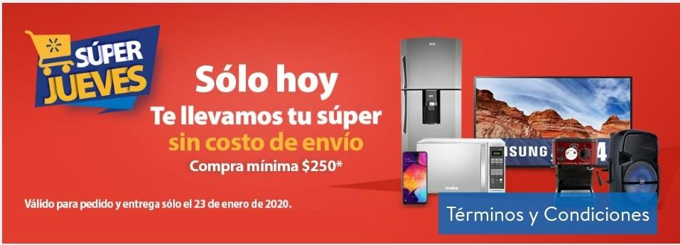 Walmart Super-Envio gratis comprando$250 de mandado