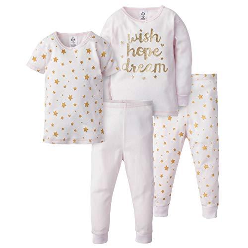 AMAZON - Pijama de 4 Piezas para niña TALLA 4
