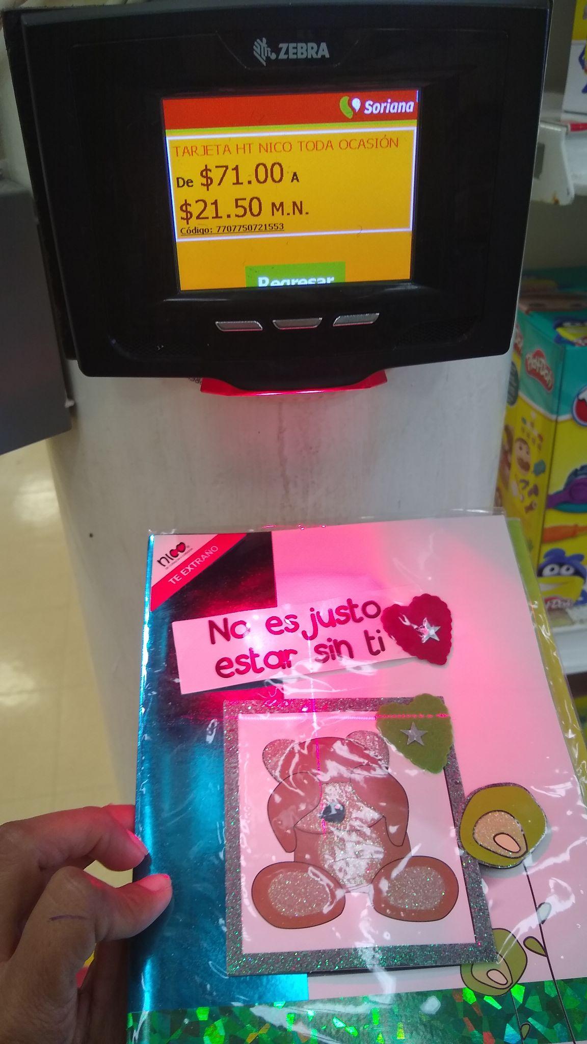 Mega niños héroes Cancún tarjetas Nico en liquidación varían los precios