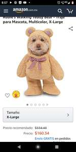 Amazon: DISFRAZ PERRO TEDDY XS y XL