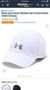 Amazon Gorra para Correr Shadow Cap 2.0 para Dama Under Armour