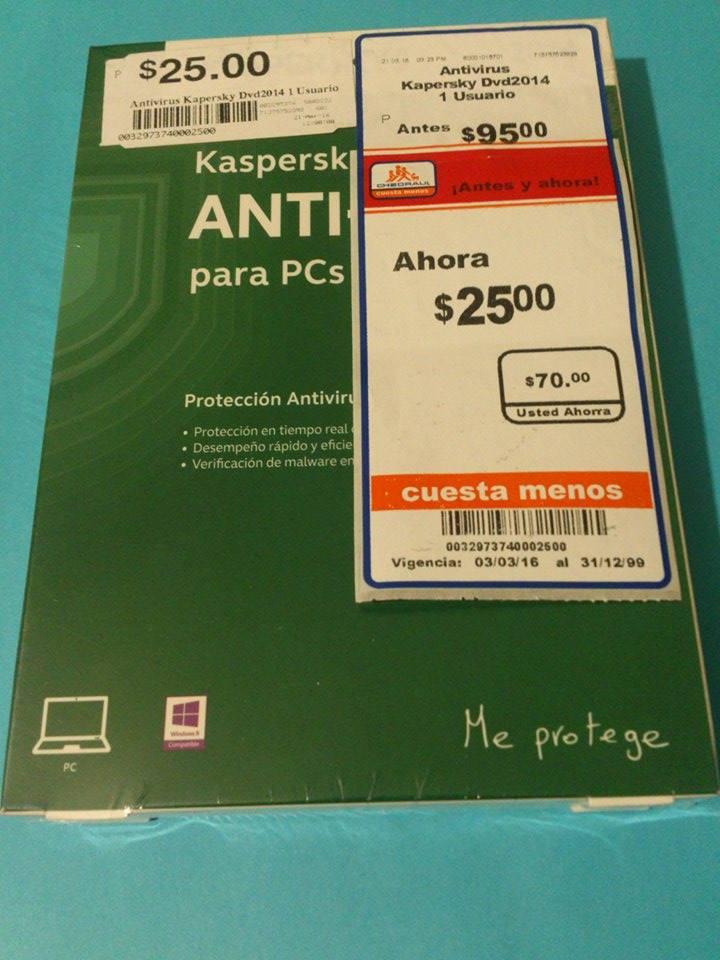 Chedraui: 1 año de Antivirus Kaspersky a $25