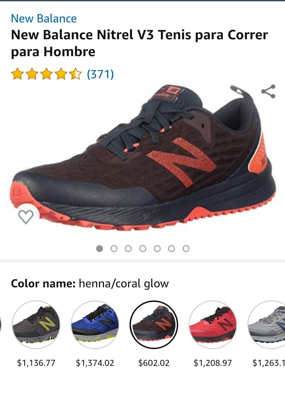 Amazon: New Balance Nitrel V3 tenis para correr hombre
