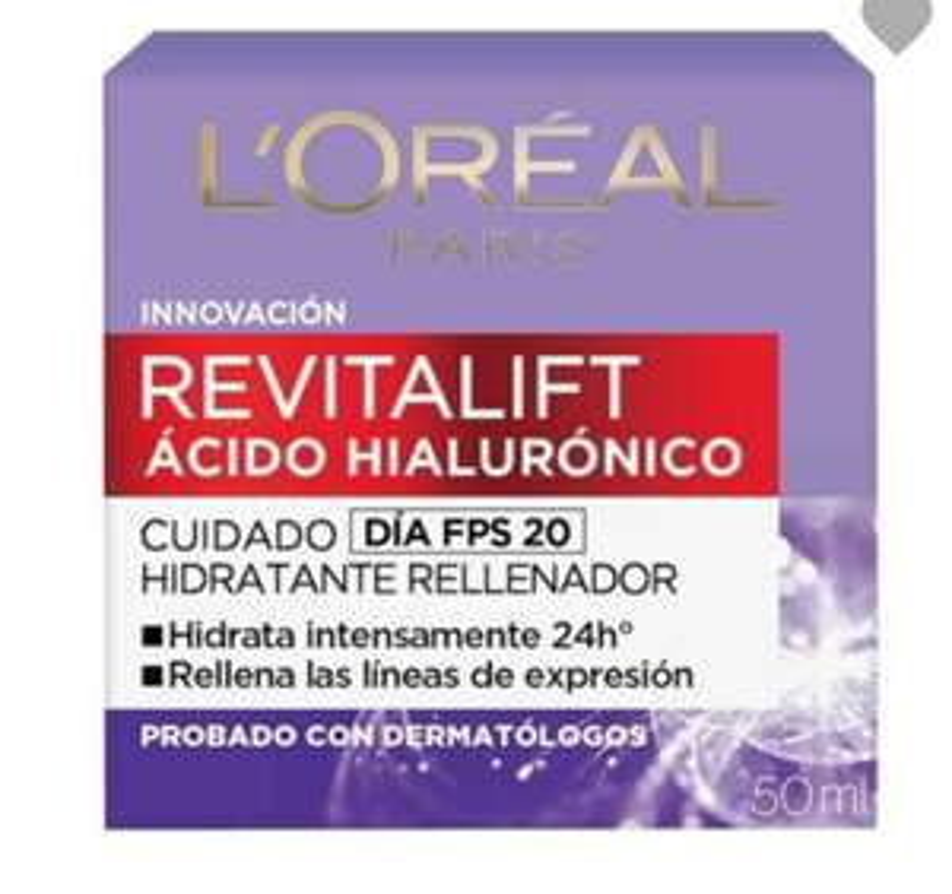 Walmart online-Crema revitalift ácido hialurónico 2x$379