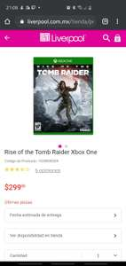 Liverpool: Rise of the Tomb Raider Xbox One