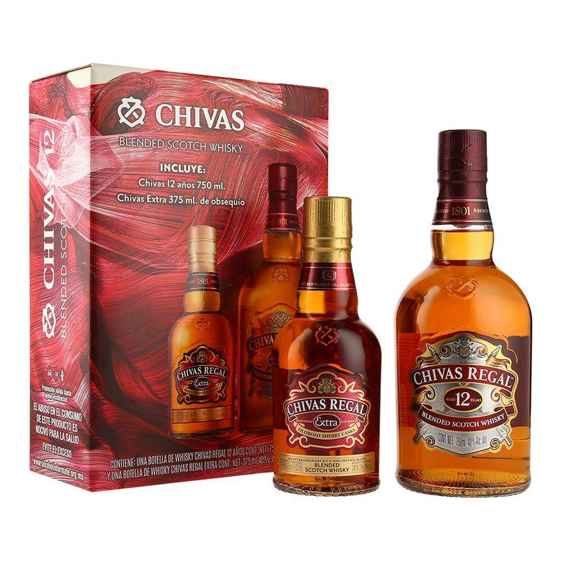 Bodegas Alianza: Chivas Regal 12 años con 30% desc + media botella de Chivas Extra de regalo