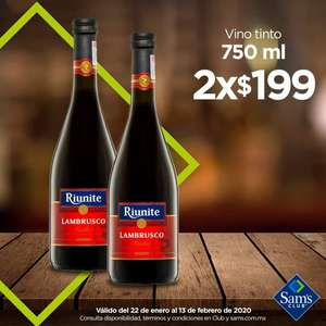 Sam's Club, 2 Lambrusco x $199