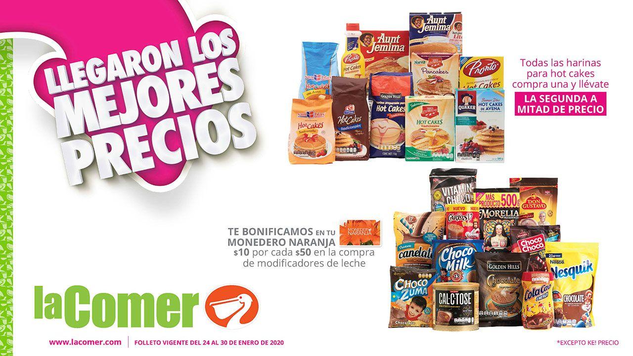La Comer: Folleto de Ofertas Semanal del Viernes 24 al Jueves 30 Enero con productos al 2 x 1½