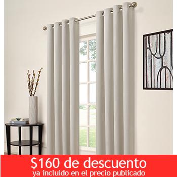Costco en línea: cortinas blackout Ellery Morgan varios colores a $439 con cupón + 18MSI