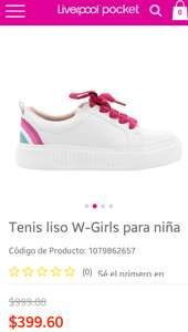 liverpool Tenis color blanco para niña