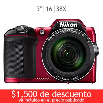 Costco en línea: Nikon Coolpix L840 a $2,699 con cupón + 18MSI