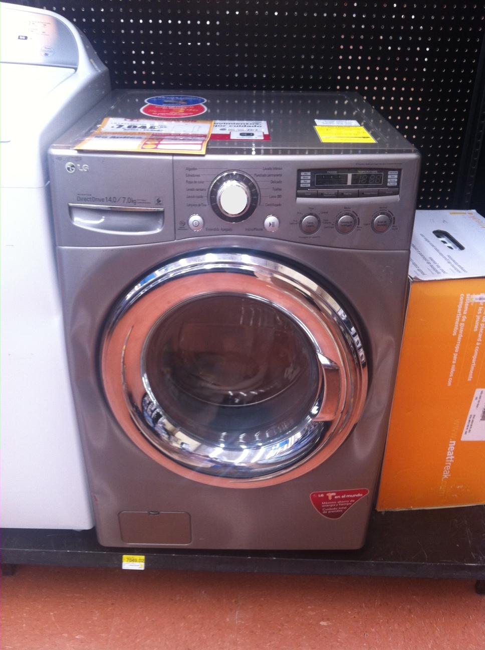 Walmart: Lavasecadora LG en liquidación de $14,490 a $7,049.02
