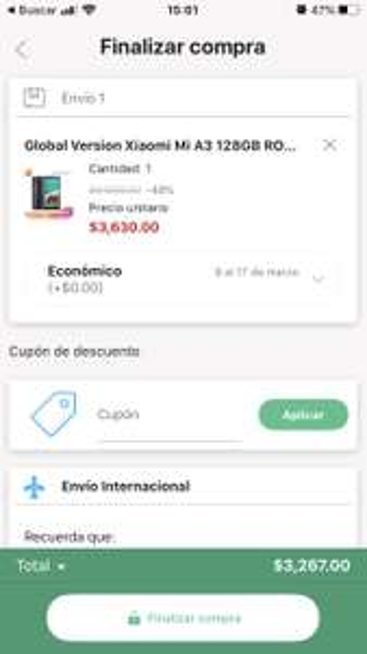 Linio Xiaomi Mi A3 128GB + 4GB RAM (pagando con PayPal)